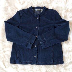 ORVIS Blue Soft Denim Long Sleeve Jacket, Size XL.